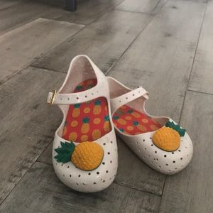 Mini Melissa pineapple shoes 8t